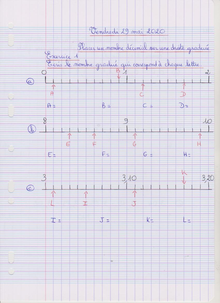 Cm1 Maths Exercice 1 Vendredi 29 Mai