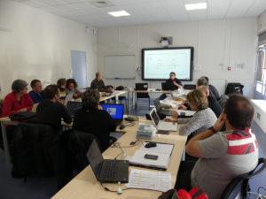 photo de la première réunion de l'équipe